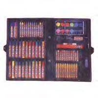 86 piece Art Set With Case This 86pc Art Set is the perfect gift for any kid with a fancy for art! We have also found this item to be very popular among school teachers since it includes just about anything you could want for your art needs  Click To Enlarge Image