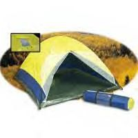 Three Man Dome Tent  Unit Weight: 7 Lbs. Dimensions: 6.75 ft (W) X 4 ft (H) X 7.75 ft( D) - Suggested Price: $99.95 Click To Enlarge Image